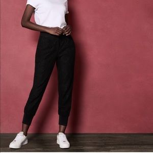 Ted baker black lace starchy joggers
